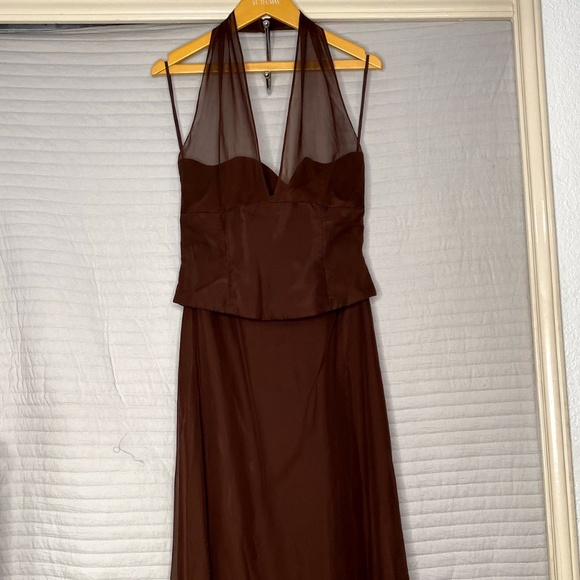 Jordan Dresses & Skirts - Women's Long Brown Dress